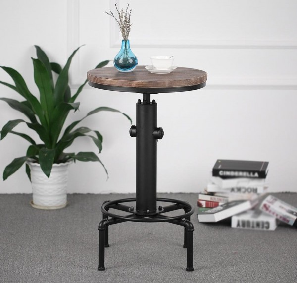Table ronde style industriel