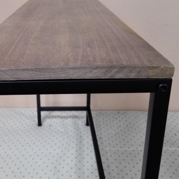 Table Console Rectangulaire Style Industriel